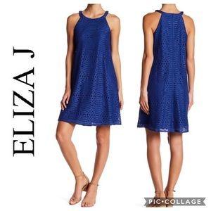 Eliza J Lace A-like Dress Sz 2 Blue
